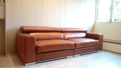 HODERN NATUZZI - 全苯染牛皮手動/電動功能沙發組,外銷價格1/3即可擁有,功能款必鑑賞