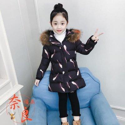 女童羽絨棉服冬裝韓版棉襖加厚中長款棉服洋氣