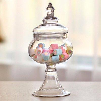 **蕾絲公主**新品推出part2**歐式高腳玻璃糖果罐(E款)~婚禮佈置、夢幻candy bar、主題週歲生日派對