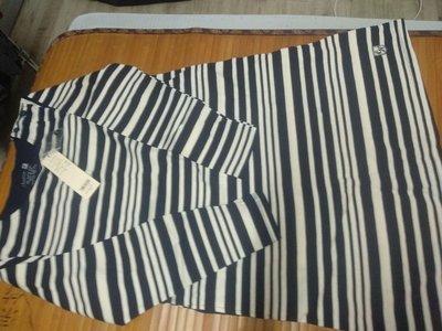 橫條紋棉製休閒洋裝