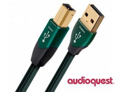 台中『崇仁音響發燒線材精品網』 美國 audioquest  Forest  USB Digital Audio Cables (1.5m)