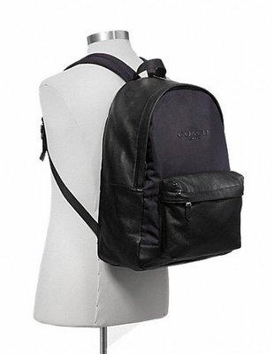 cocoloveny美國代購 Coach 限量新款 尼龍後背包 黑色 F71674  肩背包 旅行包 男款