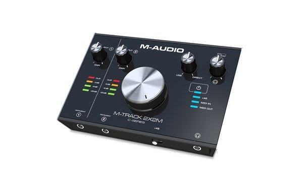 造韻樂器音響- JU-MUSIC - 全新 M-Track 2X2 M USB 錄音介面 DAC MIDI 接口