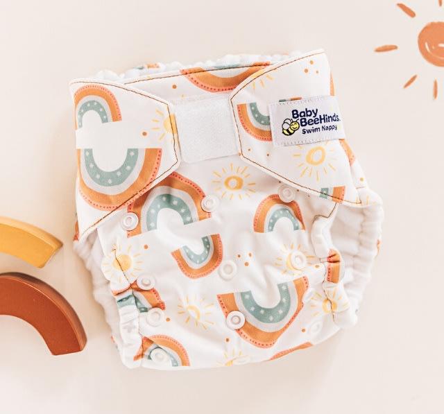 游泳尿布褲(4~16公斤)-彩虹太陽/澳洲 Baby BeeHinds【兔寶寶部屋】