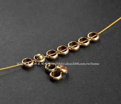 飾品 配件 F353 黃銅對穿孔 圓形連結 10入/組 連接 隔珠 連結 DIY 手創 手工藝 手鍊 項鍊 蠟線 編織