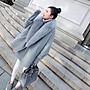 毛呢外套 中長版大衣(零碼賠售出清、恕不退換)-秋冬大毛領寬鬆顯瘦女外套73wd26[獨家進口][米蘭精品]