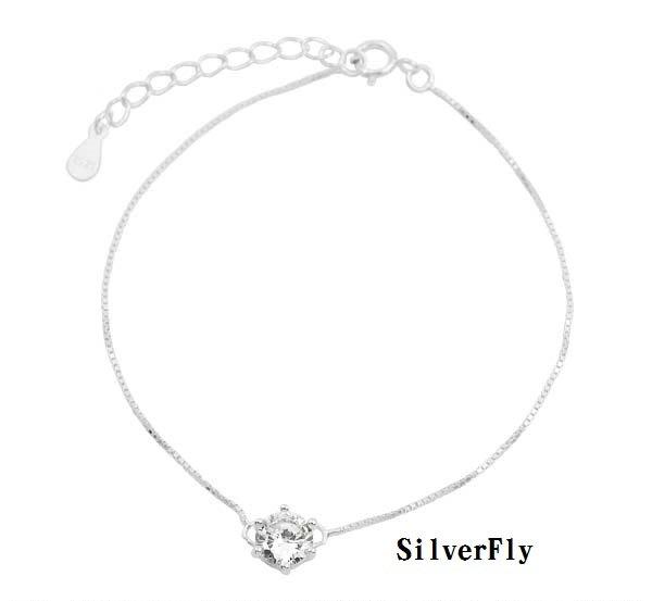 單鑽時尚細手鍊《 SilverFly銀火蟲銀飾 》