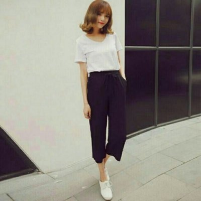 🈹現時特賣💸 寬鬆 S.M.L 棉麻 薄款 顯瘦 七分褲 闊腿褲 休閒褲 褲裙 八分