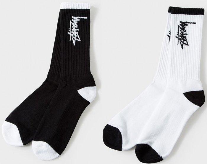 【超搶手】全新正品 2015 秋季 最新 現貨 STUSSY STOCK FA15 SOCKS 字體 襪子黑白灰
