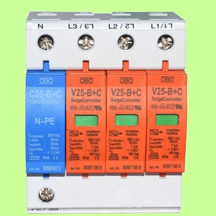 5Cgo【權宇】全新德國OBO電源防雷器V25-B+C/3+NPE 防雷器浪湧保護器避雷器 530282084575含稅