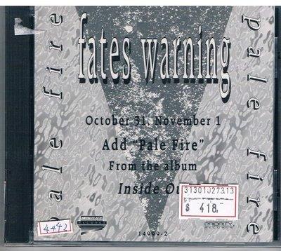 [鑫隆音樂]西洋CD-Fates Warning命運警訊:Pale Fire (全新)免競標