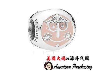 美國大媽代購 PANDORA 粉琺瑯新款迪士尼精靈串珠 925純銀 CHARMS 美國代購
