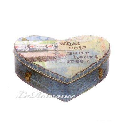 【Creative Home】Heart & Home 心戀家居系列鐵製心形收納盒 - 大 (what sets your heart free?)