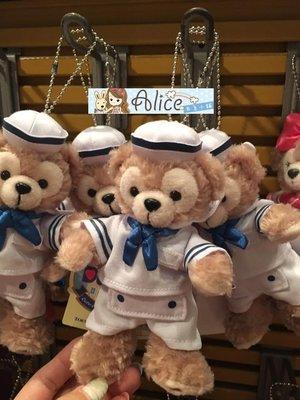 ☆愛莉詩☆日本直購~迪士尼達菲海軍服玩偶吊飾-站姿