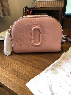 ╭☆包媽子店☆Marc Jacobs Shutter Small Camera Bag 真皮流蘇相機包((嫩粉色))