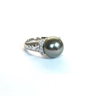 [tt珠寶設計]南洋黑珍珠鑽戒
