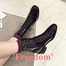Freedom~女鞋切爾西短靴女春秋2018新款女鞋網紅正韓中跟冬季ins短筒馬丁靴子