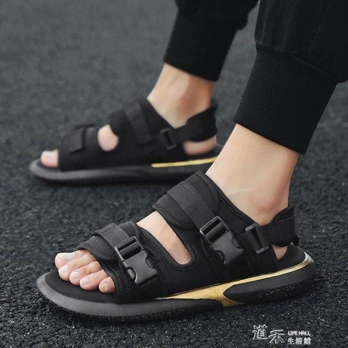 夏季越南涼鞋男士新款原宿風韓版潮流個性室外學生運動沙灘鞋  好康免運