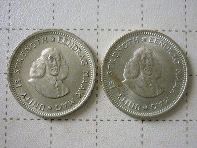 ☆豐臣館☆錢幣 南非(South Africa)1963 1964年 5 Cents 銀幣~AD012