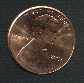 【錢幣】United States(美國),1-CENT,2002,林肯,品相全新UNC #1907300