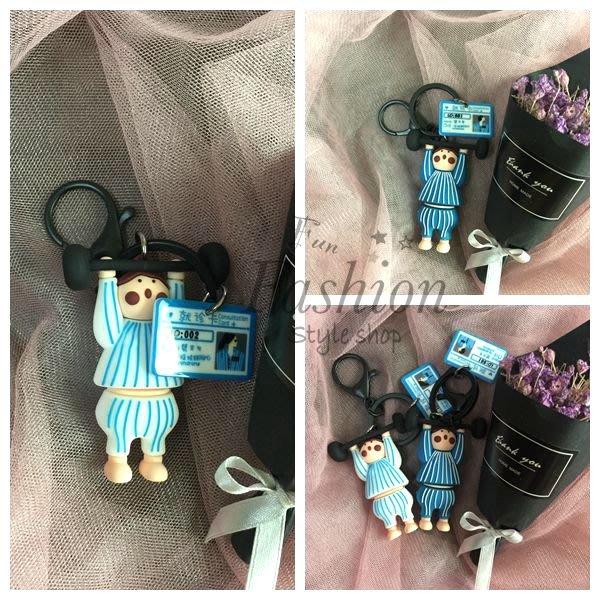 台灣現貨 創意 卡通 舉重男女 情侶 一組鑰匙圈 包包掛飾 鑰匙圈掛件【Fun fashion 穿搭趣 時尚精品】