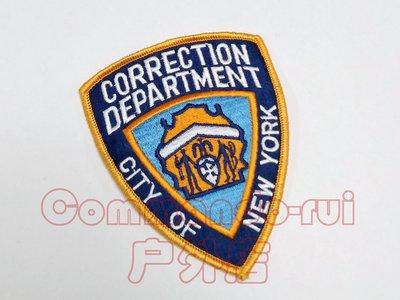 美國紐約市懲戒局 /Department of Correction /NYCD 徽章/臂章