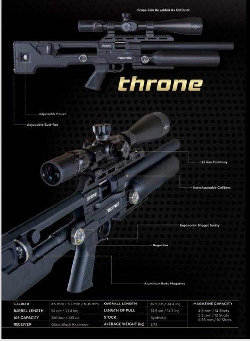 Speed千速(^_^)2019最新Reximex throne PCP 牛式.中握.獨家販售中.! 一槍可玩3種口徑
