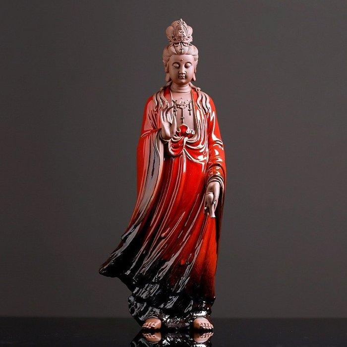 【睿智精品】陶瓷觀音 滴水觀音菩薩 南無觀世音菩薩 法像莊嚴(GA-4853)