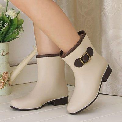 中筒女雨鞋磨沙女水鞋雨靴防滑水靴時尚春夏四季可配   全館免運