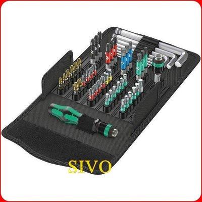 ☆SIVO電子商城☆德國Wera Kraftform Kompakt 100 52支組工具包 6規格起子頭+六角板手組