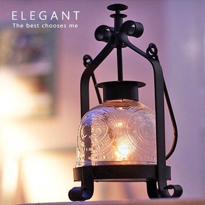 歐式複古鐵藝玻璃燭台【不含蠟燭】婚慶 浪漫 燭光晚餐 手提燈 禮物擺件 ※ COLOUR歐洲生活家居 ※