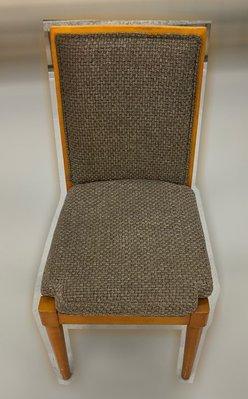 台中二手家具 大里宏品二手家具館 F112646*灰布餐椅* 二手各式桌椅 中古辦公家具買賣 會議桌椅 辦公桌椅