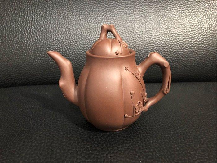 早期 黑星土 高梅樁壺(中國興宜)四方印款