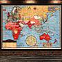 復古裝飾畫二戰地圖美式掛畫書房客廳臥室貼...