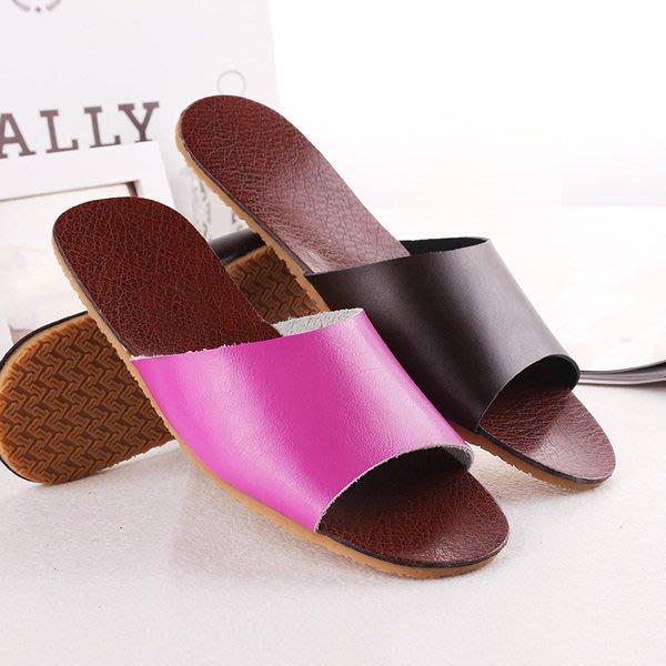 真皮拖鞋情侶牛筋底拖鞋夏季男女居家防滑防臭家居室內地板涼拖鞋