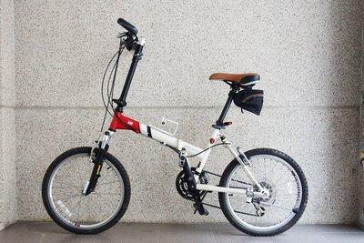 【台中青蘋果】功學社 KHS F20 二手 20吋16段變速 摺疊腳踏車 #23701