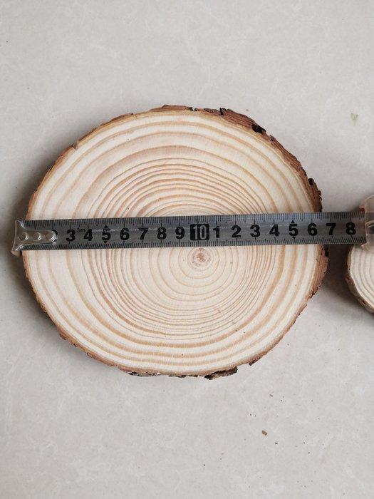 淘淘樂-幼兒園森林系環創diy材料薄手工木頭塊手繪年輪實木裝飾小原木片