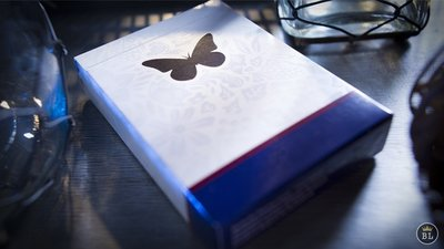 【USPCC撲克】Butterfly Playing Cards Marked (Blue)