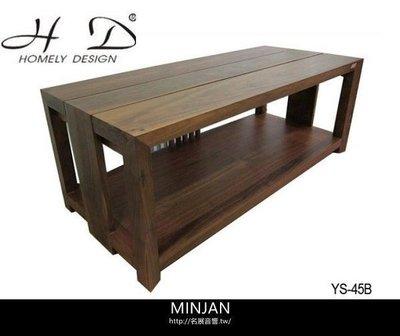 【尼克放心】義大利精品 Homely Design 胡桃原木材質,純手工製造 YS-45B 雙層電視音響架