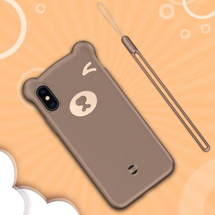 『四號出口』fashion case【 三星 S10+ 】 小熊 造型 矽膠 手機殼 保護殼 附掛繩 Samsung