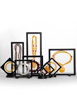 つ美麗shop 文玩手串PE膜首飾盒耳環耳釘耳飾項鏈戒指防氧化珠寶懸浮展示架子MP62