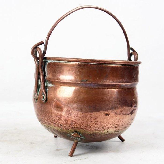 百寶軒 19世紀西洋民俗收藏古董銅器紫銅小奶缸奶桶小型盛奶器銅桶8品 ZG1276