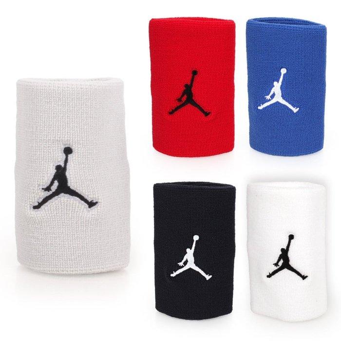 NIKE Jordan Jumpman單色腕帶(飛人喬登 籃球 NBA 護腕 一雙入【98341524】≡排汗專家≡
