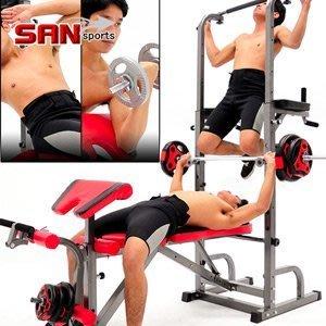 哪裡買⊙SAN SPORTS第四代室內單槓雙槓+舉重床MC177-10104 仰臥起坐板仰臥板健腹機健腹器.拉單槓吊單槓