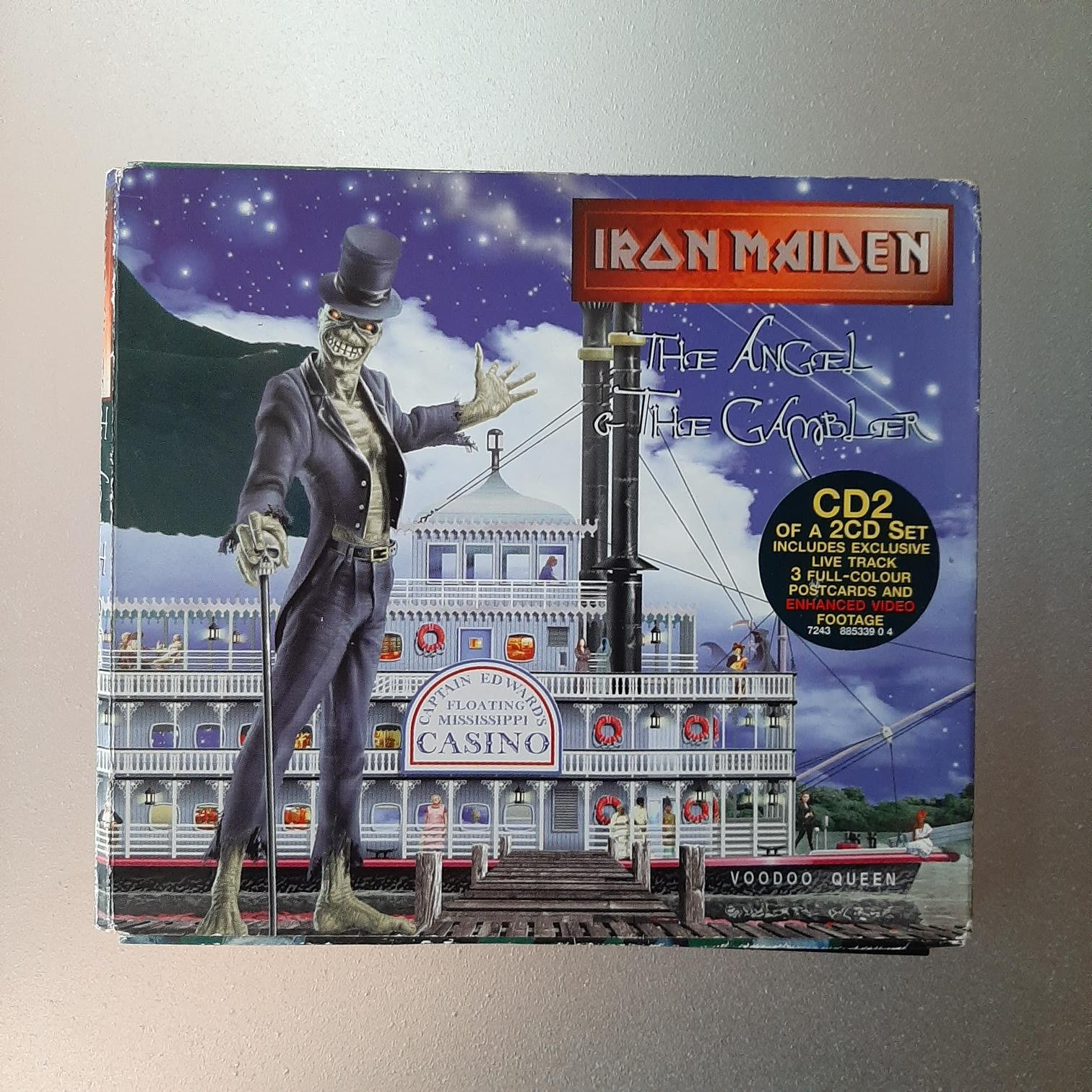 【裊裊影音】鐵娘子Iron Maiden-Angel And The Gambler(Promotinal Copy)宣傳單曲CD紙版裝-EMI 1998發行