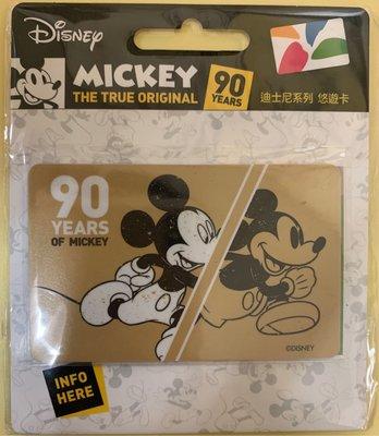 迪士尼悠遊卡 米奇90周年(金)  米奇悠遊卡 米奇90周年 悠遊卡 一卡通 icash2.0