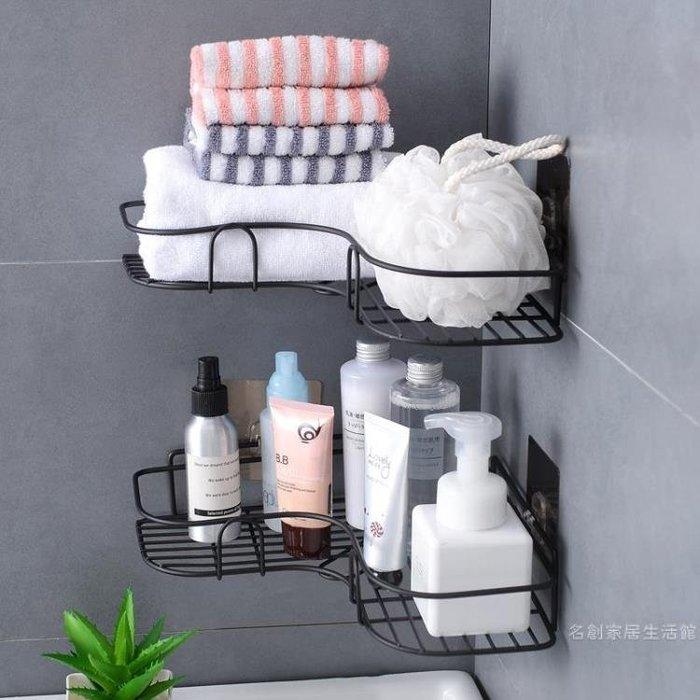 免打孔轉角置物架衛生間洗漱架 浴室無痕壁掛三角架收納架 提前降價 免運直出