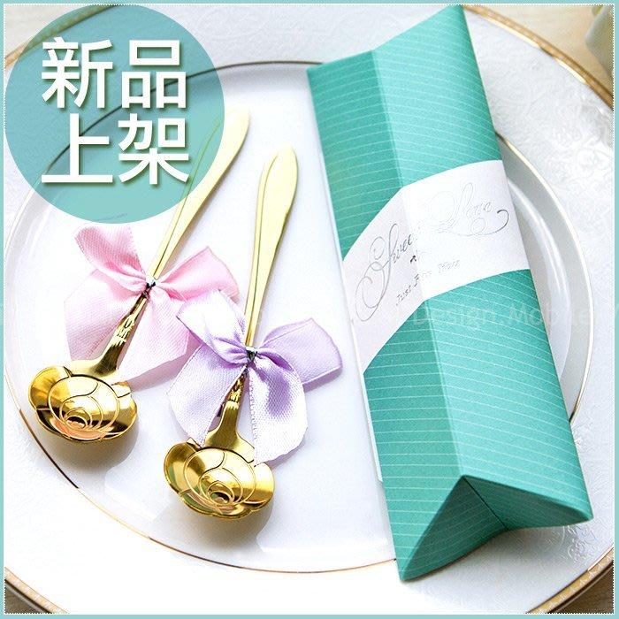 【Sweet Love Tiffany盒玫瑰湯匙二入禮盒】-婚禮小物/桌上迎賓禮/姊妹禮/送客禮/二次進場/贈品