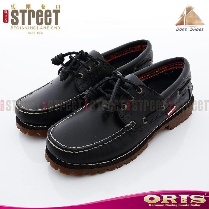 【街頭巷口 Street】ORIS 女款 時尚淑女品味 獨特繫帶裝飾造型 雷根式帆船鞋 934A01-734A01 黑色