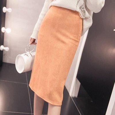 明星衣櫃=春季新款中長款後開叉包臀顯瘦拉鏈半身裙子女士純色鉛筆職業=洋裝 連身裙 吊帶裙 長裙 短裙 褲裙現